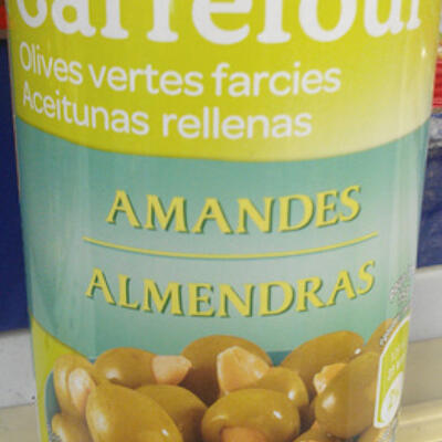 Olives vertes farcies amandes (Carrefour)