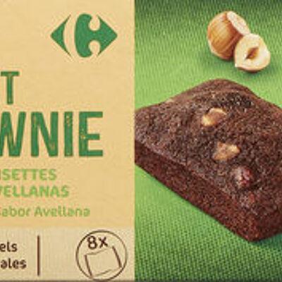 Brownie chocolat noisettes goût noisette. (Carrefour)