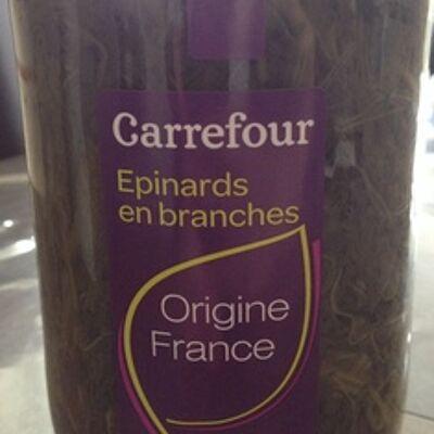 Épinards en branches (Carrefour)