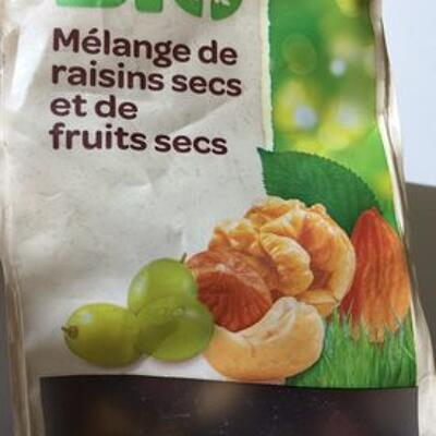 Mix de raisins secs et de fruits secs (Carrefour)