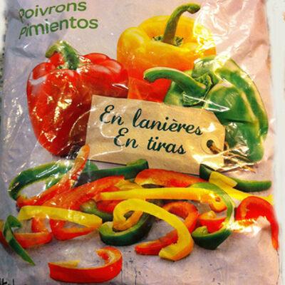 Poivrons, en lanières, surgelés (Carrefour)