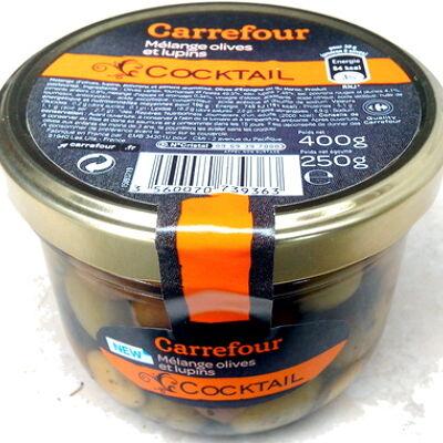 Cocktail, mélange olives et lupins (Carrefour)
