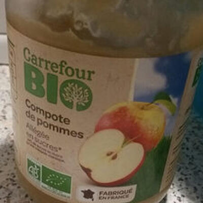 Compote de pommes (Carrefour bio)