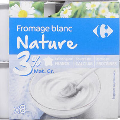 Fromage blanc nature 3% (Carrefour)