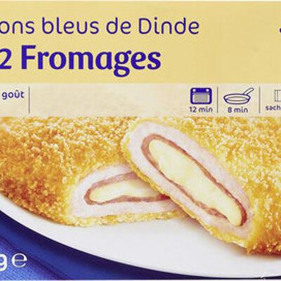 Cordons bleus de dinde aux 2 fromages (Carrefour)