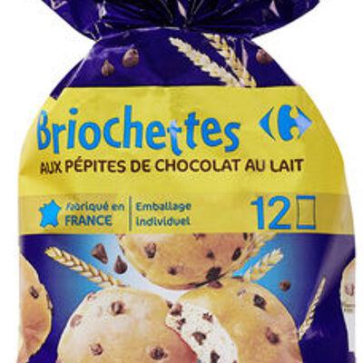Briochettes aux pépites de chocolat au lait (Carrefour kids)