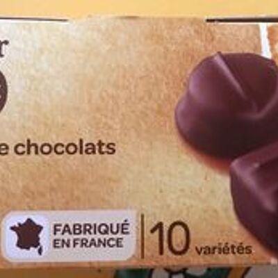 Assortiment de chocolats (Carrefour bio)