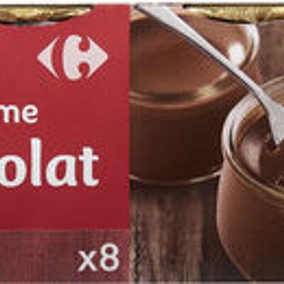 Petit pot de crème au chocolat (Carrefour)