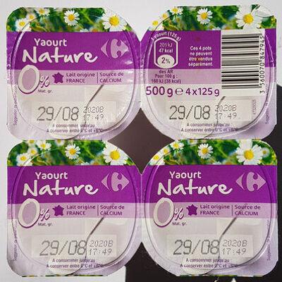Yaourt nature 0% (Carrefour)