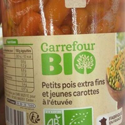 Petits pois extra fins et jeunes carottes (Carrefour bio)