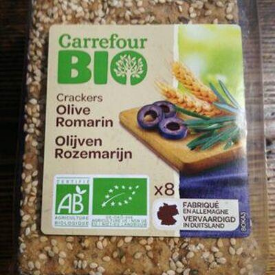 Crackers olives romarin (Carrefour bio)