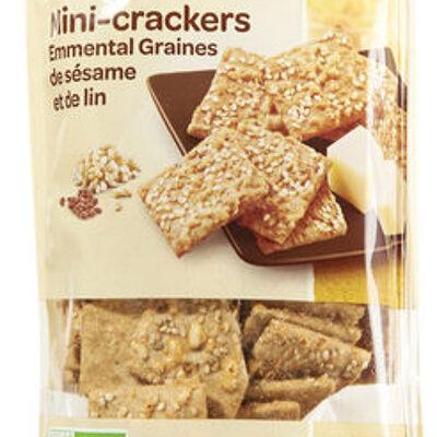 Mini-crackers emmental graines de sésame et de lin (Carrefour bio)