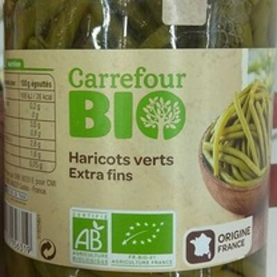 Haricots verts extra fins (Carrefour bio)