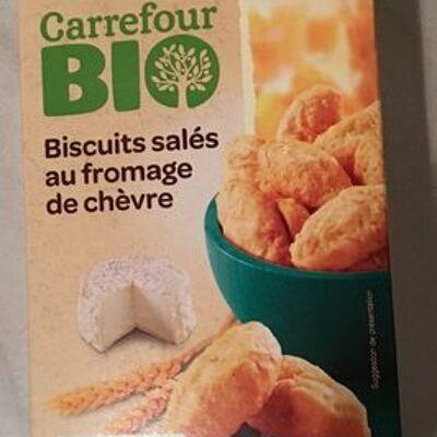 Biscuits salés au fromage de chèvre (Carrefour bio)