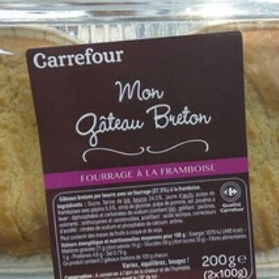 Mon gâteau breton framboise (Carrefour)