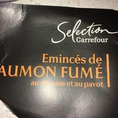 Emincés de saumon fumé au sésame et au pavot (Carrefour)