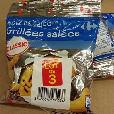 Noix de cajou grillées salées (Carrefour)