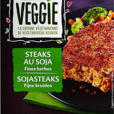 Steaks au soja fines herbes (Carrefour veggie)