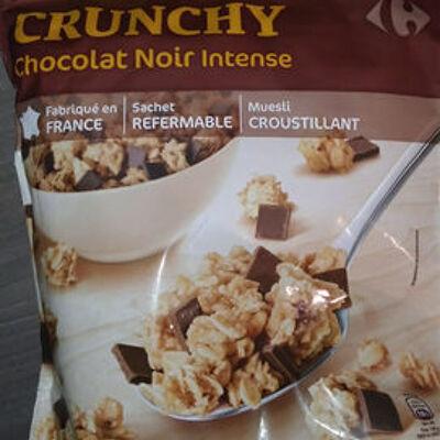 Muesly croustillant cruchy chocolat noir intense (Carrefour)