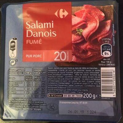 Salami danois fumé (Carrefour)