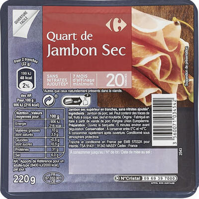 Quart de jambon sec (Carrefour)