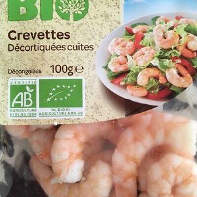 Crevettes décortiquées cuites (Carrefour bio)