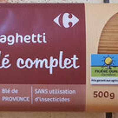 Spaghetti blé complet (Carrefour)