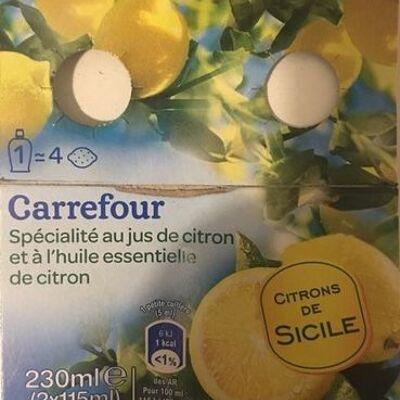 Spécialité au jus de citron (Carrefour)
