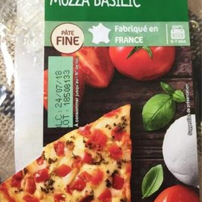 Pizza mozza basilic (Carrefour)