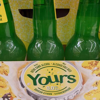 Yours bière sans alcool saveur citron (Yours)