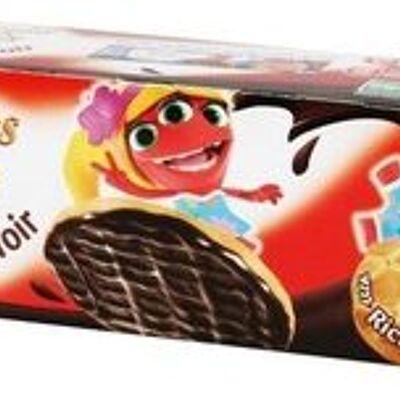 Biscuits ronds nappés de chocolat noir (P'tit déli)