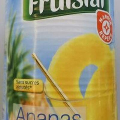 Ananas en tranches entières au jus naturel (Fruistar)