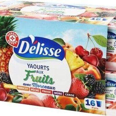 Yaourts aux fruits morceaux (Délisse)
