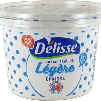Crème fraîche légère épaisse 15 % mat. gr. (Délisse)