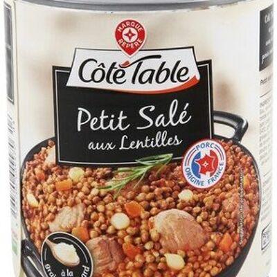 Petit salé lentilles (Côté table)
