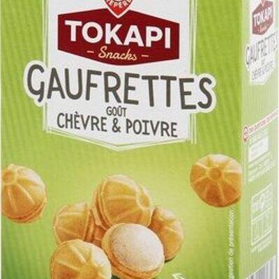 Gaufrettes fourrées goût chèvre et poivre (Tokapi)