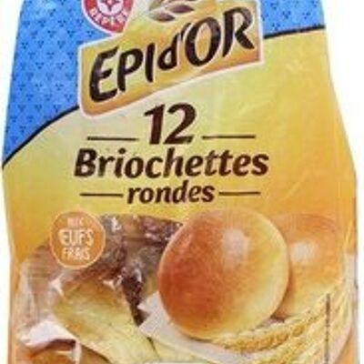Briochettes rondes x 12 (épi d'or)