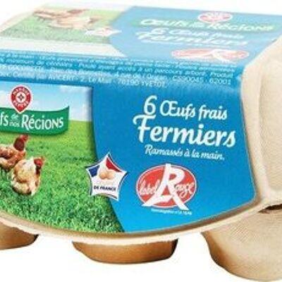 Oeufs fermiers label rouge x 6 (Oeufs de nos régions)