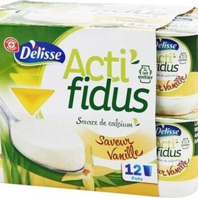 Actifidus au bifidus saveur vanille (Délisse)
