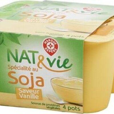 Spécialité au soja saveur vanille (Nat&vie)