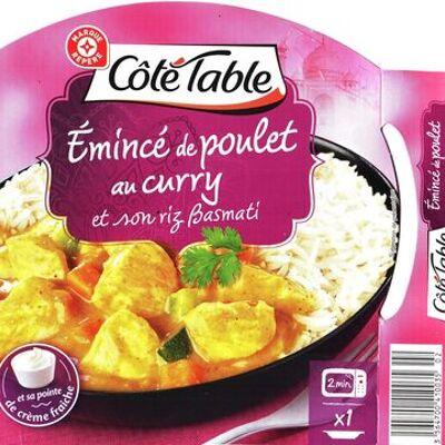 Emincé de poulet au curry et son riz basmati (Côté table)