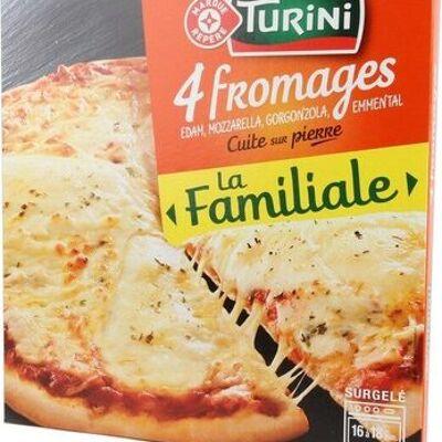 Pizza familiale 4 fromages cuite sur pierre (Turini)