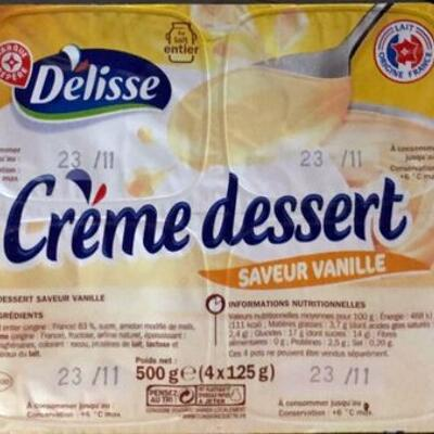 Crème dessert saveur vanille (Délisse)