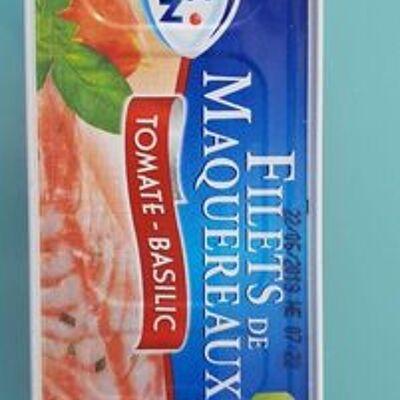 Filets maquereaux tomate/basilic (Pêche océan)