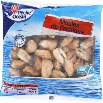 Moules décoquillés cuites surgelées sachet (Pêche océan)