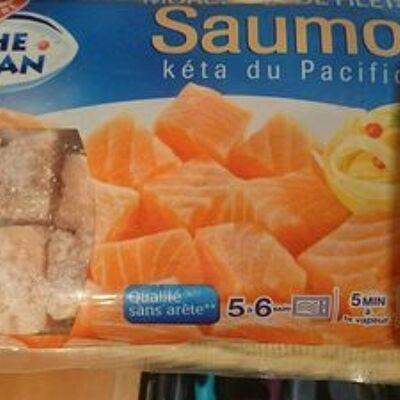 Morceaux de saumon (Pêche océan)