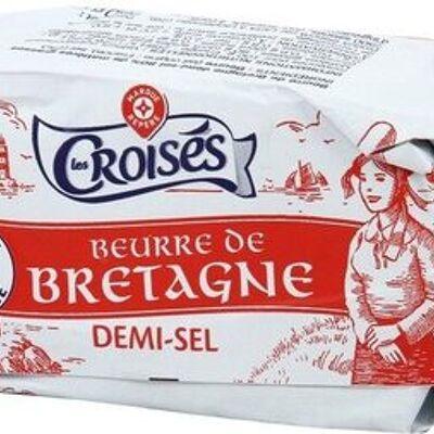 Beurre de bretagne demi-sel 80% mat. gr. (Les croisés)