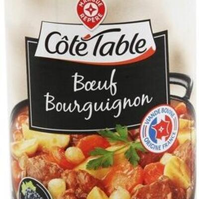 Boeuf bourguignon (Côté table)