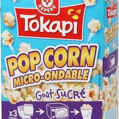 Pop corn sucré micro-ondable 90 g x 3 (Tokapi)
