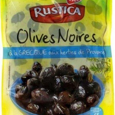 Olives noires à la grecque aux herbes de provence (Rustica)